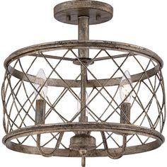 Rustic 3 Light Semi Flush Mount Pendant Lamp Chandelier Lighting Ceiling Fixture - http://centophobe.com/rustic-3-light-semi-flush-mount-pendant-lamp-chandelier-lighting-ceiling-fixture/ -