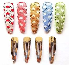 24 set  Mix colors flower with dot hair clip cover /& metal Hair snap clip set