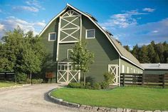 Love the color of this barn.