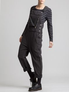 THICK RUSTIC COTTON OVERALLS - JACKETS, JUMPSUITS, DRESSES, TROUSERS, SKIRTS, JERSEY, KNITWEAR, ACCESORIES - Woman -