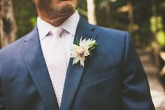 Blushing Bride proteas for perfectly soft boutonnieres #cedarwoodweddings Lush and Romantic Destination Wedding :: Megan+Greg | Cedarwood Weddings