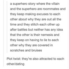 writing prompt<<< honestly think I have seen a show similar to this. Minus the liking eachother part Writing Advice, Writing Help, Writing A Book, Writing Ideas, Dialogue Prompts, Story Prompts, Story Inspiration, Writing Inspiration, Story Ideas