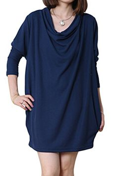 5ee59d27101c2 Mordenmiss Women s Long Sleeve T-Shirt Autumn Dress Pullover With Pockets  at Amazon Women s Clothing store
