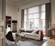 Transform your living room with contemporary floor lamps Hunter Douglas, Contemporary Floor Lamps, Modern Floor Lamps, Cool Floor Lamps, Lamp Inspiration, Curtains With Blinds, Stores, Home Renovation, Palette