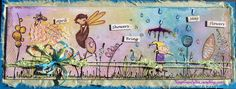 Springtime banner... using Stampotique Originals and new Paper Artsy stamps