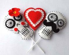 Day of the Dead Wedding Cake Toppers Bride & Groom Sugar Skulls