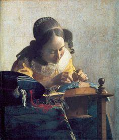 Johannes Vermeer: The lacemaker, 1669-71