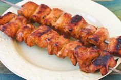 Recipe Favorites:  Chile Mustard Pork Kabobs [#SouthBeachDiet Phase One #Recipe; from Kalyn's Kitchen; visit the blog to see step-by-step photos of this recipe.]
