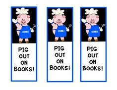 PIG THEME/BOOK MARKS/GIFT IDEAS for STUDENTS