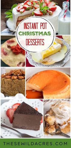 Instant Pot Christmas Desserts Christmas will be here before you know it! If you're in the process of planning any type of…