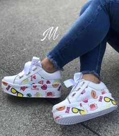 Platform Shoes Shoes Swag Shoes Shoes Sneakers Wedges Shoes Sandals Sneakers Over Knee Socks Shoe Tree Ankle Sneakers, Cute Sneakers, Leather Sneakers, Sneakers Fashion, Fashion Shoes, Lunette Style, Swag Shoes, Kawaii Shoes, Over Knee Socks
