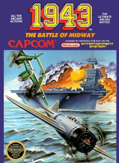 1943 the Battle of Midway (Nintendo NES) (Pre-Played - Game Only) Vintage Video Games, Classic Video Games, Retro Video Games, Video Game Art, Retro Games, Retro Toys, Vintage Toys, Nes Games, Nintendo Games