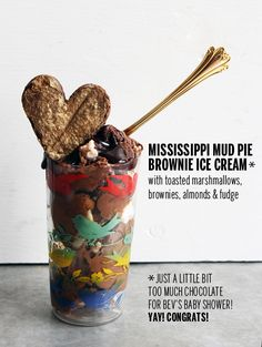 Mississippi Mud Pie Brownie Ice Cream // take a megabite