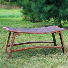 Wine barrel stave bench