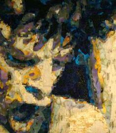 Mick was made using thousands of fused batik fabrics.