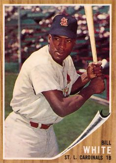 1962 Topps Bill White #14 Baseball Card
