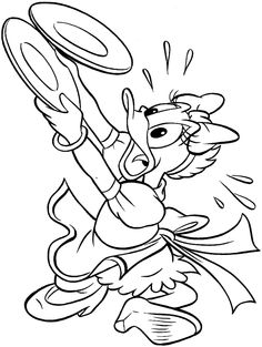 Daisy Duck Coloring pages for kids. Online Coloring Pages, Disney Coloring Pages, Coloring Book Pages, Printable Coloring Pages, Coloring Sheets, Coloring Pages For Kids, Donald And Daisy Duck, Bujo Doodles, Abc For Kids