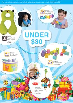GIFT IDEAS UNDER $30 toys for newborns to 12 months to 18 months to 8 years+. to find out where to buy our gift ideas, email info@valiantbrands.com.au Newborn Toys, Newborns, Childrens Gifts, Inspirational Gifts, 18 Months, First Birthdays, Boy Or Girl, How To Find Out, Baby Shower