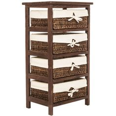Get Brown Shelf Unit with Fabric-Lined Baskets online or find other Furniture products from HobbyLobby.com