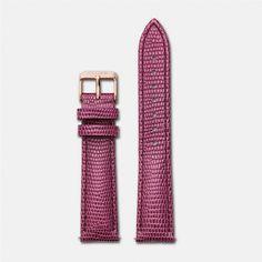 Strap 18 mm - Cerise Lizard/Rose Gold