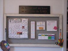 home school room ideas | Homeschool calendar in living room | Homeschool - School Room Ideas