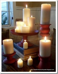 DIY candle holder with recipe for chalk color PBS style – diy kitchen decor dollar stores Diy Projects For School, Craft Projects, Craft Ideas, Unique Candle Holders, Candlestick Holders, Diy Kitchen Decor, Kitchen Ideas, Pottery Barn Inspired, Diy Baby Gifts