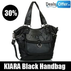 KIARA Black Handbag @ 30% Off