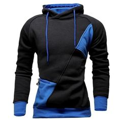 Stylish Hooded Simple Solid Color Buttons Design Slimming Long Sleeve Polyester Hoodie For Men Hoodies Cool Outfits, Casual Outfits, Hoodie Outfit, Cool Hoodies, Mens Clothing Styles, Look Cool, Mens Sweatshirts, Slim Fit, Menswear