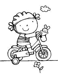 kleurplaten fiets vervoer thema vervoer knutselen en