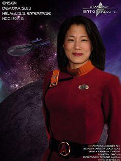 Sulu's daughter Demora, from Star Trek Generations.