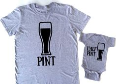 Pint half pint matching father and son daddy and son family shirts funny family shirts boys shirt dad fathers day gifts by EatSleepDrool on Etsy