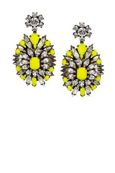 Bright Shourouk gems would really light up an LBD #earrings