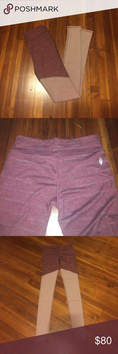 """Free People Movement Evolution legging Brand new - Free People Movement color lock leggings in """"wine"""" color. They are a beautiful rich maroon color and so so soft. Bottom material is ribbed, and top is smooth - see photo for contrast. Never worn! Please feel free to ask any questions!! Free People Pants Leggings"""