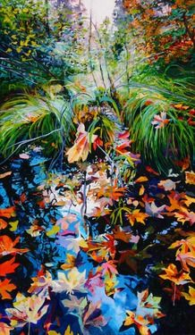 """Illusory ""  - Ellen Dittebrandt capturing the color of nature    http://www.dittebrandt.com/ellen2007/index.html"
