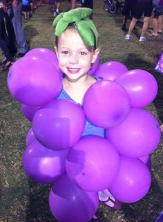 Lots of cute DIY Halloween Costumes! I love them all! Johannah WILL be a grape one year!