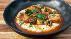 Lowcountry Shrimp and Grits on Panna: http://www.pannacooking.com/recipes/shrimp-and-grits