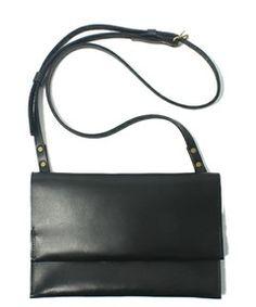 Simple Black Leather Crossbody