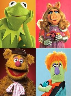 """Kermit The Frog, Miss Piggy (In """"Pigs In Space!"""" Costume!), Fozzie The Bear, And """"Dave""""!!!... ;)"""