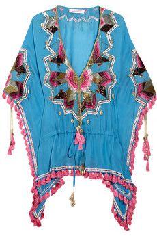 Matthew Williamson Embroidered silk kaftan   THE OUTNET