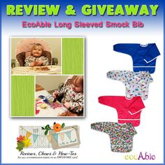 Review & Giveaway: EcoAble Long Sleeved Smock Bib by Reviews, Chews & How-To's blog