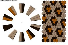 Leopard spots.                                                     20 strings. 3 colours