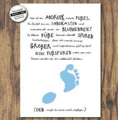 "Footprint - Baby, child: ""My foot for you"" - Vater John Deere Baby, Kindergarten Portfolio, Easy Baby Blanket, Diy Gifts For Men, Baby Accessoires, Baby Zimmer, Baby Shower Fall, Happy Mom, Footprint"