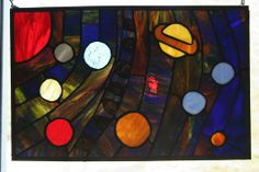Stained Glass Solar System - Delphi Stained Glass
