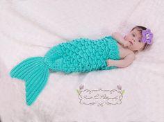 Mermaid Tail & Headband Prop crochet pattern for baby