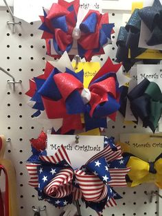 $10-$12 Fourth of July fun bows