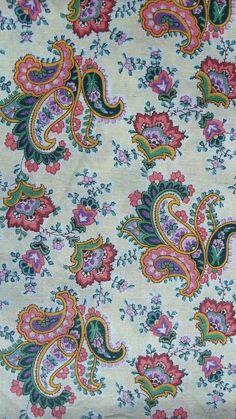 Vintage floral paisley fabric piece