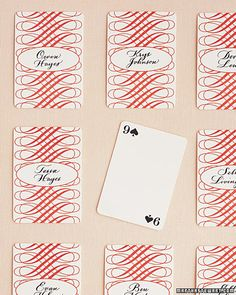 Playing Card Placecards