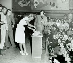 Historic Photograph of Ginger Rogers At The Hollywood Canteen