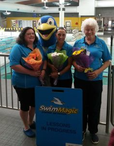 Kim, Kirstie and Jane of SwimMagic Massey Park were recently nominated for the Thanks a Bunch award in the Papakura Courier.