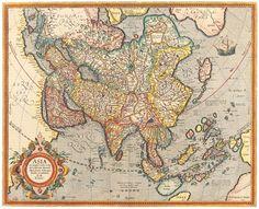 Antique Maps of the WorldMap of Asia Jodocus Hondiusc 1620